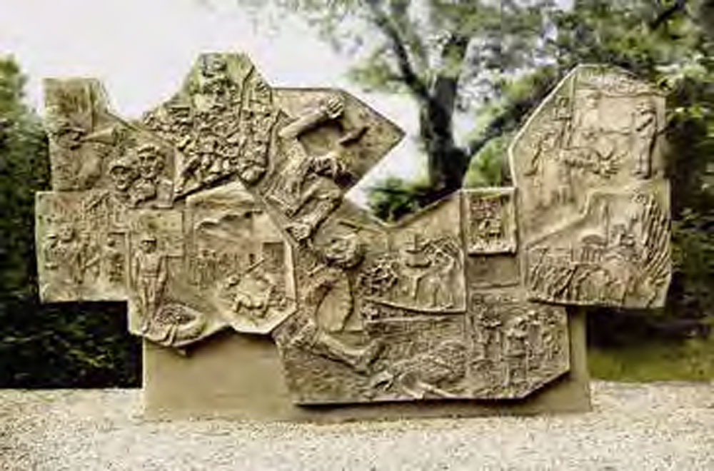 Relief an der Gedenkstätte Rieseberg