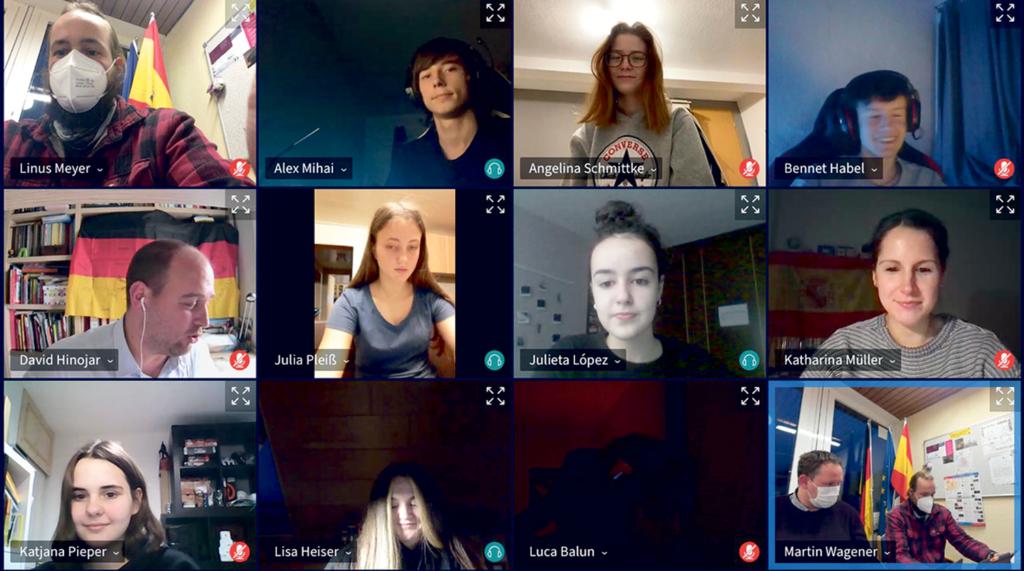 Deutsch-Spanischer Dialog via Videokonferenz